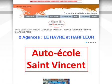 Auto école saint Vincent Le HAVRE - Accueil...