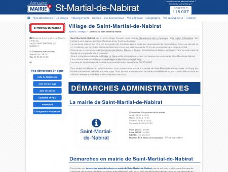 Mairie de Saint-Martial-de-Nabirat, la...