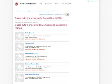 Casse auto Montastruc la Conseillère - 31380...
