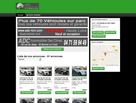 A D C : vente véhicules occasion, professionnel...
