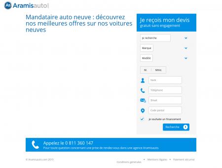 Mandataire Auto N°1 | Aramisauto.com