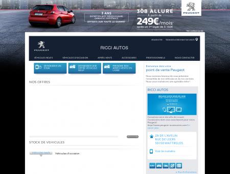 RICCI AUTOS, Votre point de vente Peugeot