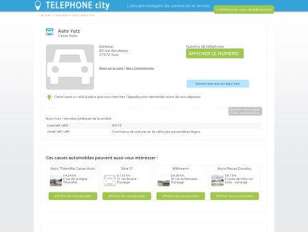 Auto Yutz à Yutz 57970 Casse Auto téléphone