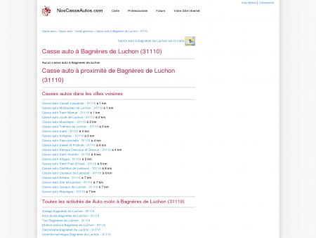 Casse auto Bagnères de Luchon - 31110 -...