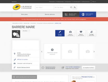BARRERE MARIE - Viticulteur à Castelnau...