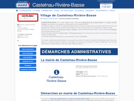 Mairie de Castelnau-Rivière-Basse, la...