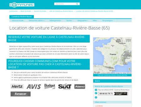 Location de voiture à Castelnau-Rivière-Basse,...