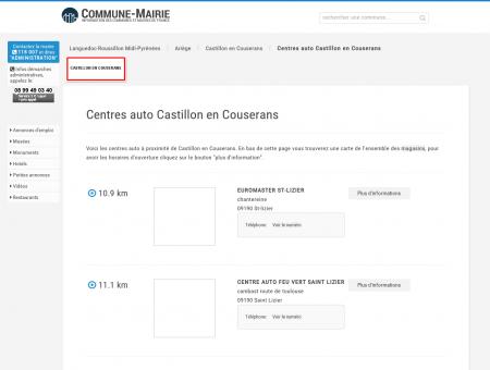 Centres auto à Castillon en Couserans...