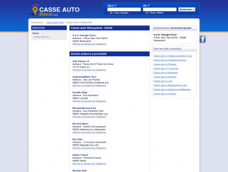 Casse auto Wasquehal - idlocal
