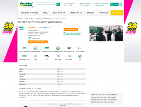 Centre auto WASQUEHAL - (59290) - Feu Vert