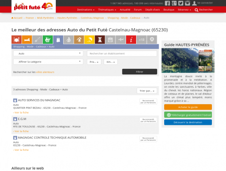 Auto Castelnau-Magnoac - adresses et avis...
