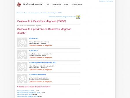 Casse auto Castelnau Magnoac - 65230 - Avis...