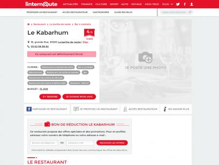 Le Kabarhum, bar à La barthe de neste, avec...