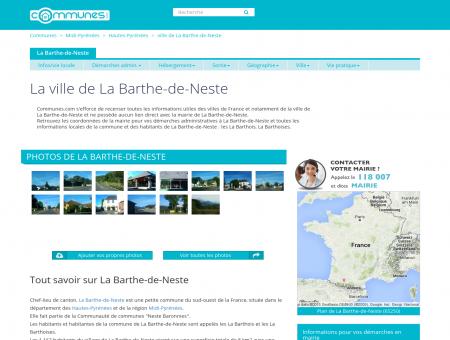 Mairie La Barthe-de-Neste, informations sur la...
