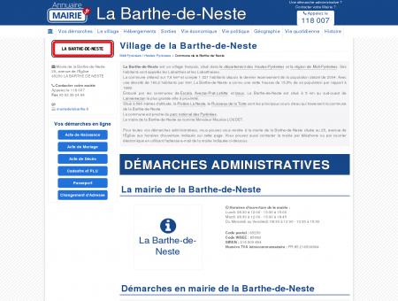 Mairie de la Barthe-de-Neste, la Commune de...