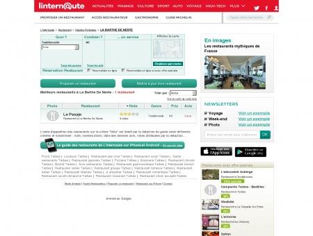 Restaurant La Barthe De Neste : Le guide des...