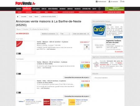 Vente maison à La Barthe-de-Neste (65250) :...
