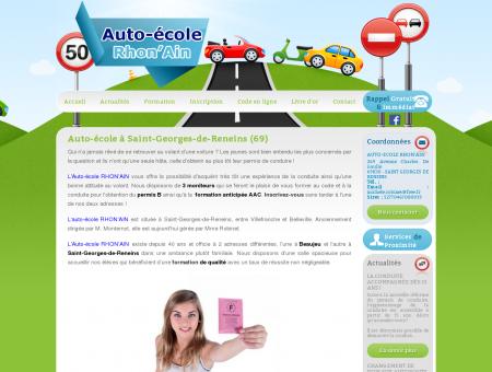 Auto-école à Saint-Georges-de-Reneins (69)
