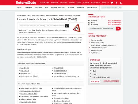 Accident de voiture à Saint-Béat (31440, Haute...