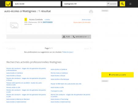Auto-écoles à Wattignies - PagesJaunes :...