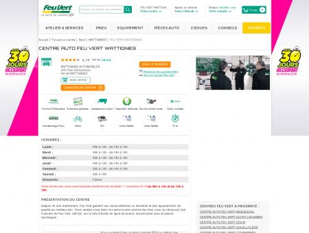 Centre auto WATTIGNIES - (59139) - Feu Vert