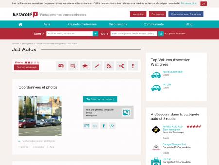 Jcd Autos Wattignies 59139 - Guide des...