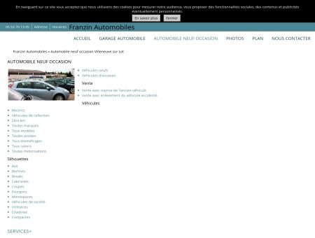 Automobiles d'occasion Villeneuve sur Lot -...