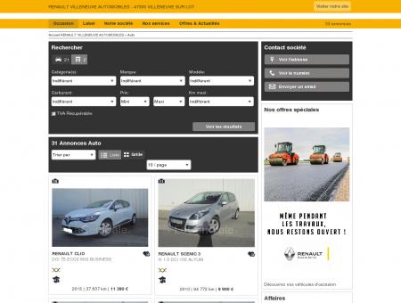RENAULT VILLENEUVE AUTOMOBILES - 47300...