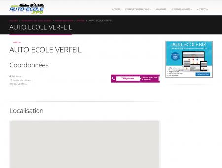 AUTO ECOLE VERFEIL : adresse, téléphone et...