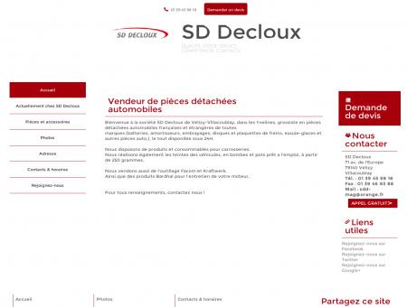 Automobiles (pièces, accessoires) - SD Decloux...