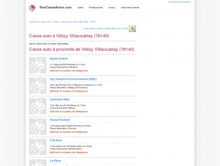 Casse auto Vélizy Villacoublay - 78140 - Avis...