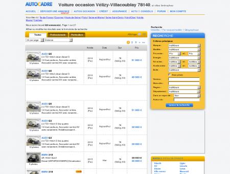 Voiture occasion à Vélizy-Villacoublay 78140 ,...