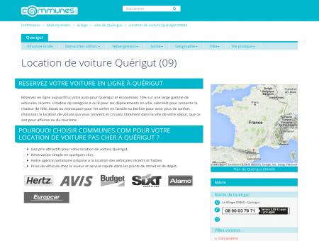 Location de voiture à Quérigut, Ariège