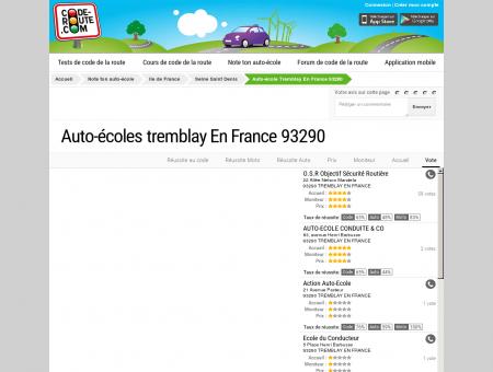 Auto-école TREMBLAY EN FRANCE (93290) ::...