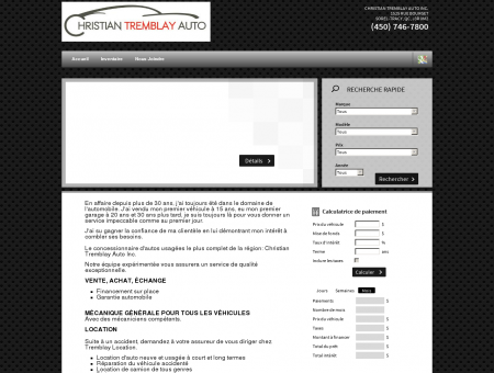 CHRISTIAN TREMBLAY AUTO INC. - Marchand...