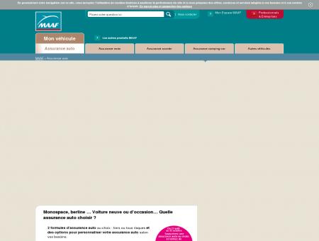Prix assurance auto MAAF   maaf.fr
