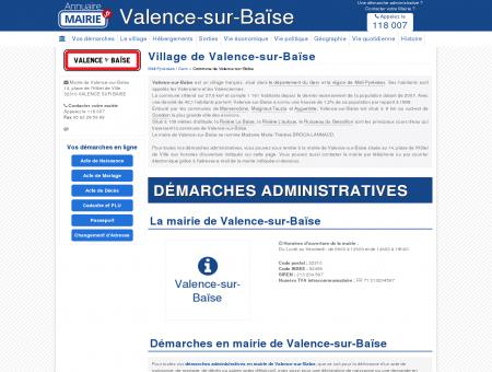Mairie de Valence-sur-Baïse, la Commune de...
