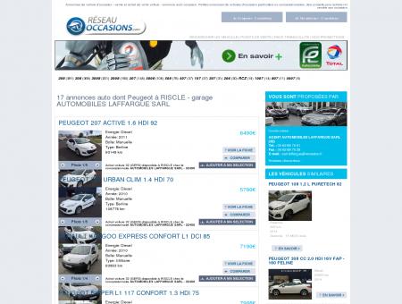 17 annonces auto dont Peugeot à RISCLE -...