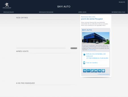 BAYI AUTO, Votre point de vente Peugeot