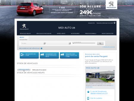 MIDI AUTO 28, Votre point de vente Peugeot