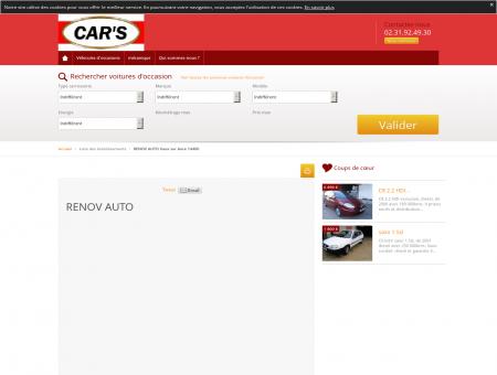 A propos de RENOV AUTO Vaux sur Aure 14400