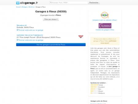 Garage Rieux (56350) - Comparatif des...