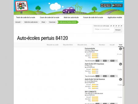Auto-école PERTUIS (84120) :: Avis et...