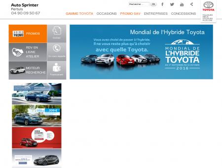 Bienvenue sur Toyota Auto Sprinter Pertuis -...