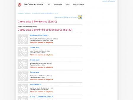 Casse auto Montastruc - 82130 - Avis casses...