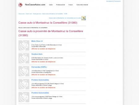 Casse auto Montastruc la Conseillère - 31380 ...