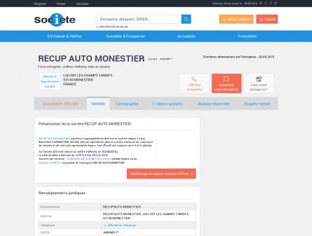 RECUP AUTO MONESTIER (MONESTIER)...