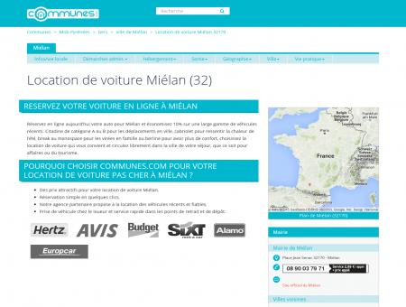 Location de voiture à Miélan, Gers