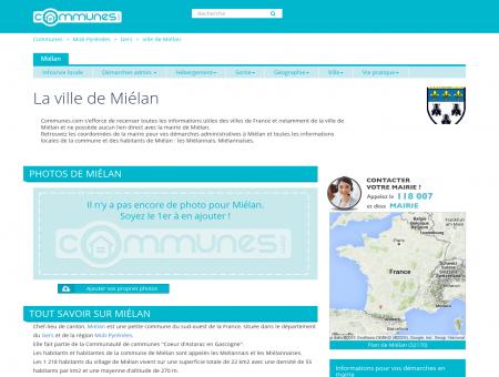Mairie Miélan, informations sur la ville Miélan...