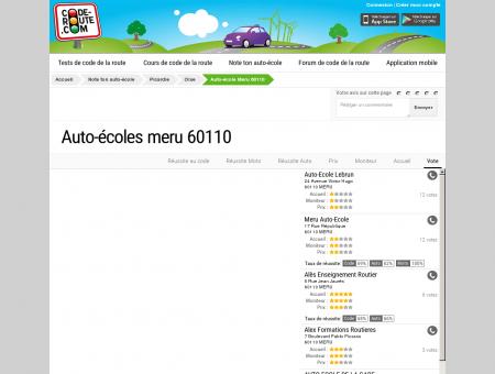 Auto-école MERU (60110) :: Avis et Coordonnées